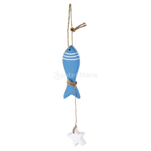 Nautical Wall Hanging Decor Fish Doll Door Sign Wall Plaque