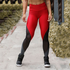 High Waist Mesh Patchwork Yoga Leggings