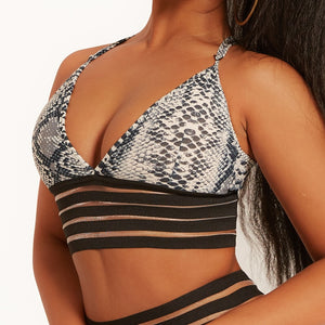 Mesh Crop Top 2020 Push Up Fitness Bra