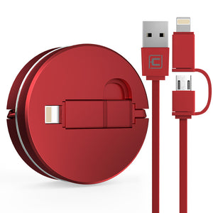 USB retractable charging cable