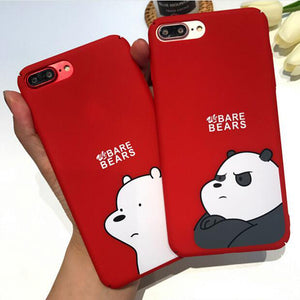 Red silicone case for iPhone