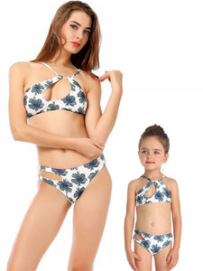 sexy-mother-and-girl-hollow-out-printed-bikini-swim-suit -Findalls