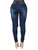 Hole Worn Slim High Waist Women's Jeans