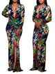 long-sleeve-pullover-print-v-neck-womens-maxi-dress -Findalls