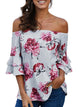 floral-off-shoulder-blouse -Findalls