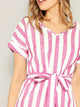 two-tone-striped-belted-dress -Findalls