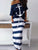 boat-anchor-print-t-shirt-striped-skirt-sets -Findalls