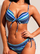 chevron-print-knotted-detail-bikini-sets -Findalls