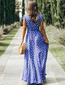 floral-wrap-3-4-sleeves-midi-x-line-dress -Findalls