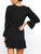 black-ruffles-long-sleeve-casual-dress -Findalls