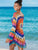 multicolor-print-crochet-openwork-cover-ups-swimsuit -Findalls