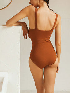 2019-new-in-halter-solid-push-up-one-piece-swimsuit -Findalls