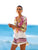 color-block-floral-one-piece-swimwear -Findalls