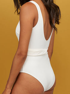 waist-belt-one-piece-swimsuit-set -Findalls