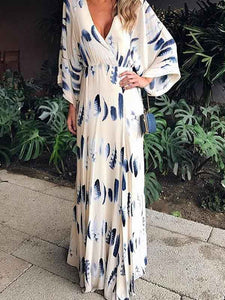 floral-print-long-sleeves-maxi-dress -Findalls