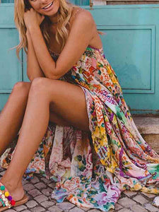 womens-sexy-floral-printing-maxi-beach-dress-vestidos -Findalls
