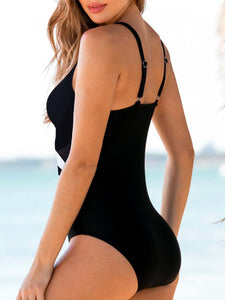 open-back-v-neck-one-piece-swimwear -Findalls