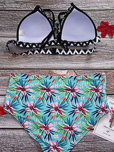 beach-colorful-flower-printing-bikini-set -Findalls
