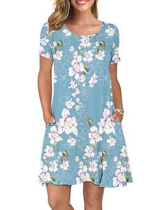 Casual T Shirt Dresses Short Sleeve Swing Dress Findalls