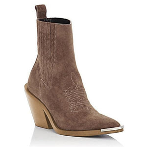 Casual Chunky Heel Pointed-type Boots