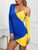 one-shoulder-colorblock-bodycon-dress -Findalls