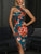 one-shoulder-floral-print-bodycon-dress -Findalls