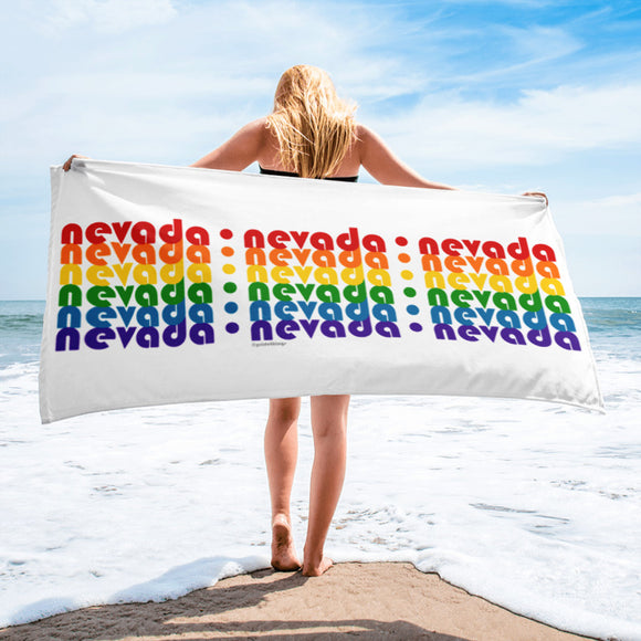 Nevada Pride Rainbow Towel by Pridethings™