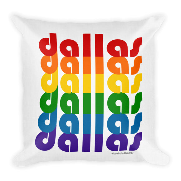 Dallas Pride Rainbow Throw Pillows by Pridethings™ ~ Square or Rectangular