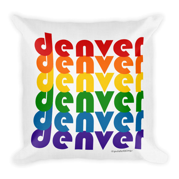 Denver Pride Rainbow Throw Pillows by Pridethings™ ~ Square or Rectangular