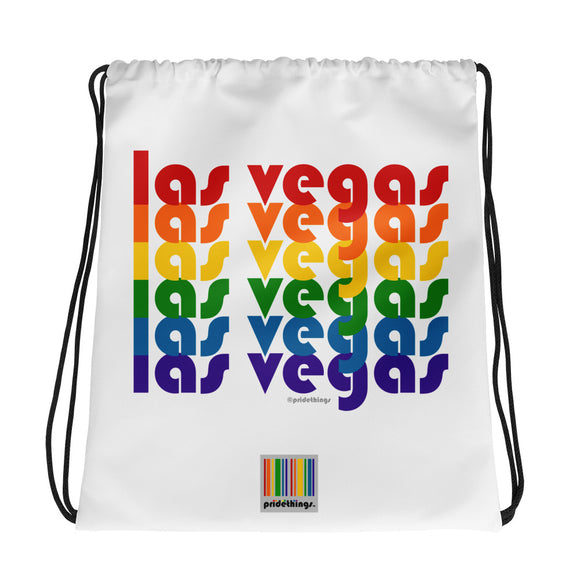 Las Vegas Pride Rainbow Drawstring Bag by Pridethings™