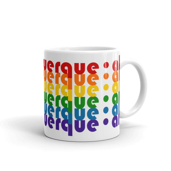 Albuquerque Pride Rainbow Mugs by Pridethings™ ~ 11 oz. or 15 oz.