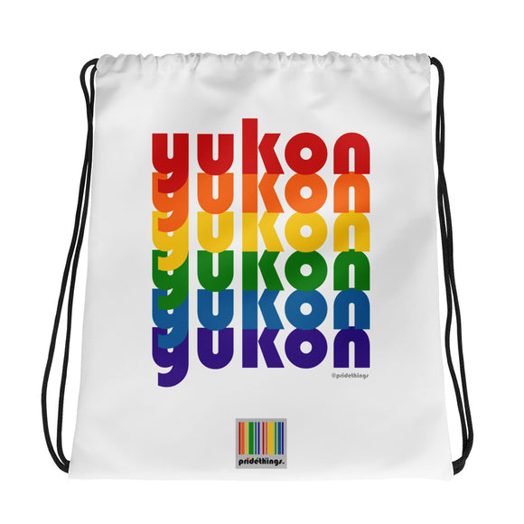 Yukon Pride Rainbow Drawstring Bag by Pridethings™
