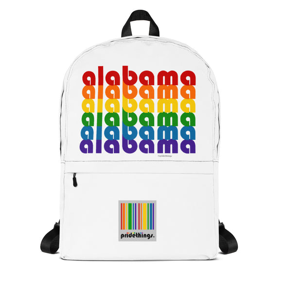 Alabama Pride Rainbow School & Work Backpack by Pridethings™