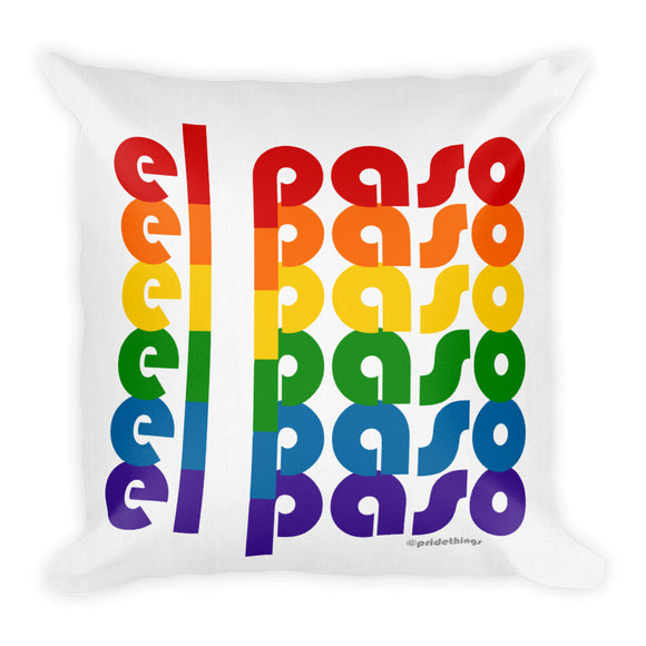 El Paso Pride Rainbow Throw Pillows by Pridethings™ ~ Square or Rectangular
