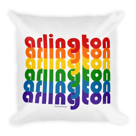 Arlington Pride Rainbow Throw Pillows by Pridethings™ ~ Square or Rectangular