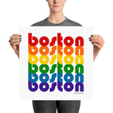 Boston Pride Rainbow Posters by Pridethings™ ~ 11 Sizes