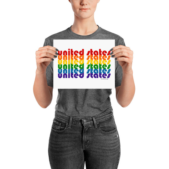 United States Pride Rainbow Posters by Pridethings™ ~ 11 Sizes