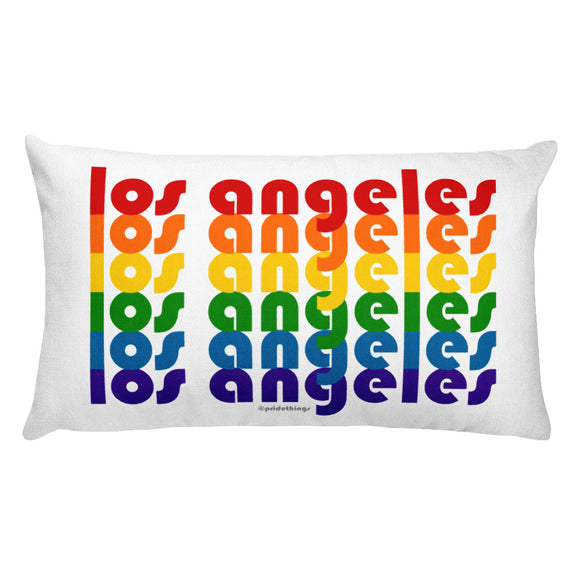 Los Angeles Pride Rainbow Throw Pillows by Pridethings™ ~ Square or Rectangular