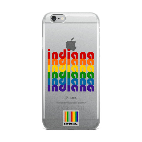 Indiana Pride Clear iPhone Cases by Pridethings™