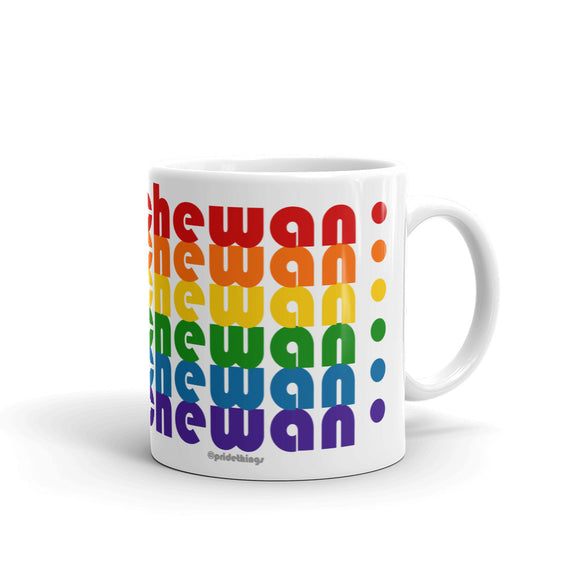 Saskatchewan Pride Rainbow Mugs by Pridethings™ ~ 11 oz. or 15 oz.