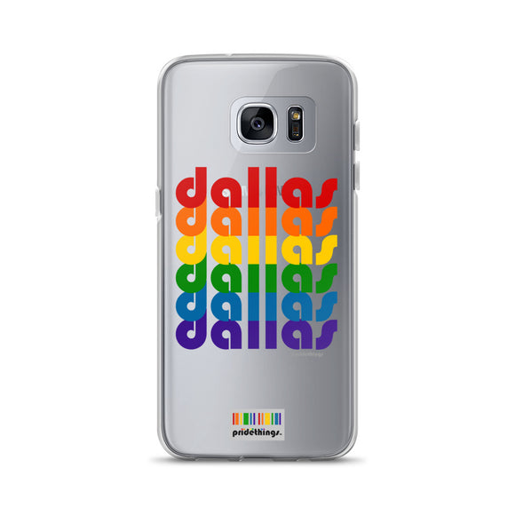 Dallas Pride Clear Samsung Galaxy Phone Cases by Pridethings™