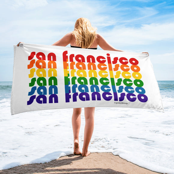 San Francisco Pride Rainbow Towel by Pridethings™