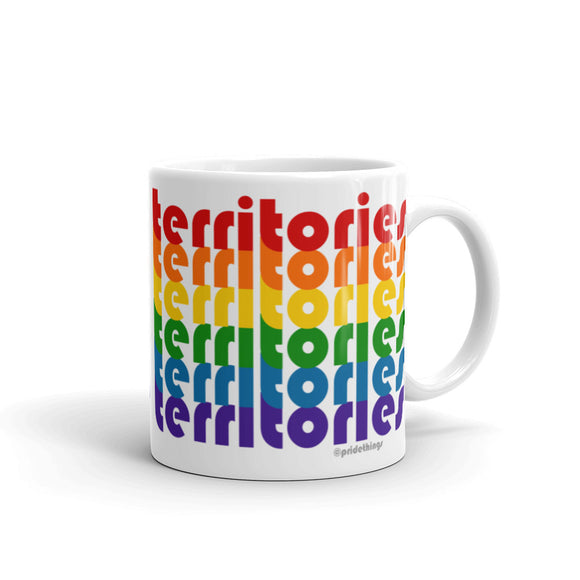 Northwest Territories Pride Rainbow Mugs by Pridethings™ ~ 11 oz. or 15 oz.