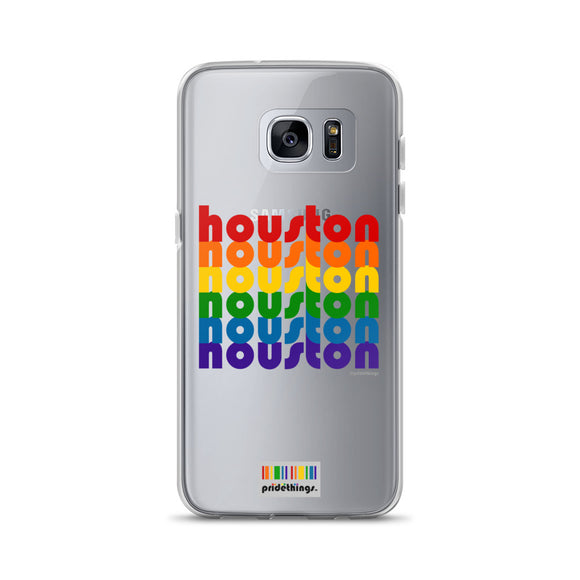 Houston Pride Clear Samsung Galaxy Phone Cases by Pridethings™