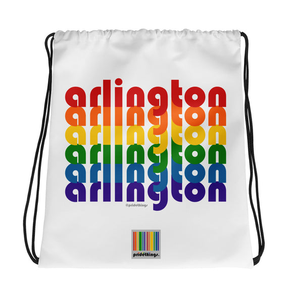 Arlington Pride Rainbow Drawstring Bag by Pridethings™