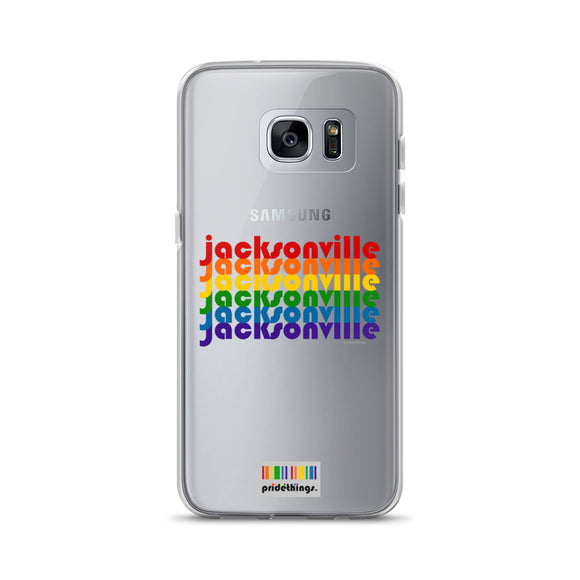 Jacksonville Pride Clear Samsung Galaxy Phone Cases by Pridethings™