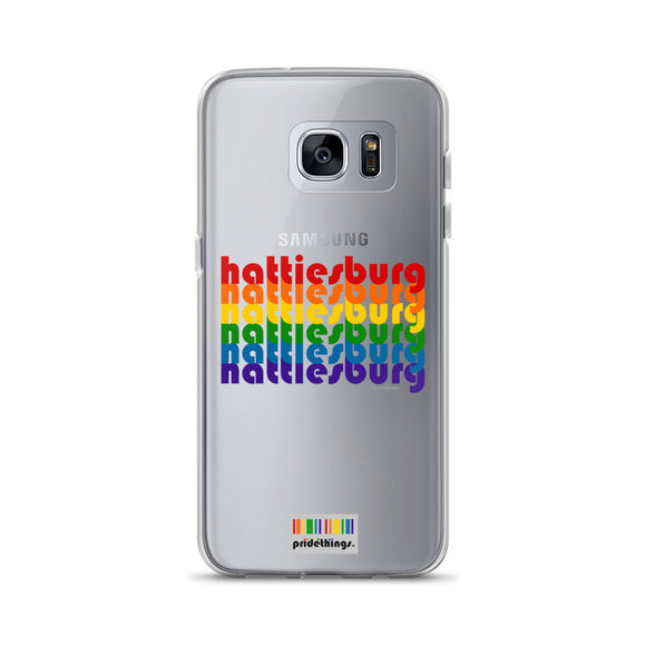 Hattiesburg Pride Clear Samsung Galaxy Phone Cases by Pridethings™