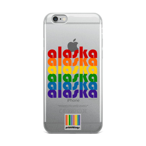 Alaska Pride Clear iPhone Cases by Pridethings™