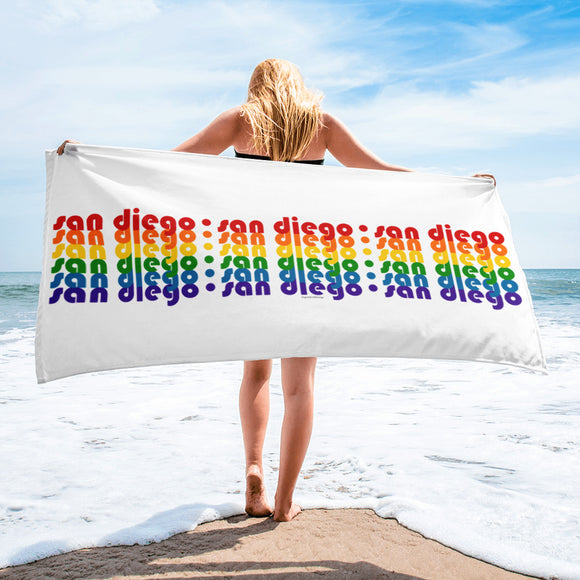 San Diego Pride Rainbow Towel by Pridethings™