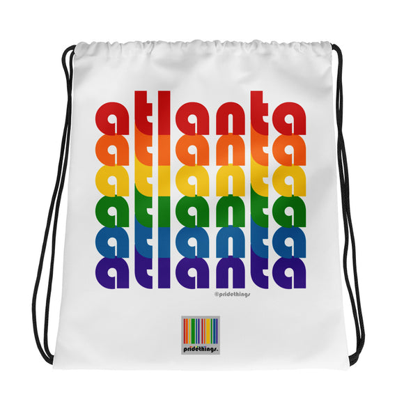 Atlanta Pride Rainbow Drawstring Bag by Pridethings™